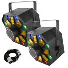 2x Chauvet Swarm Wash FX LED Derby Wash Laser Strobe DJ Disco Lighting Effect