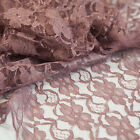 LACE FABRIC 1.5M WIDTH SOLD PER METER 4 COLOURS WEDDINGS CRAFT SWAGGING