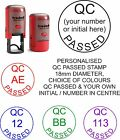 PERSONALISED QC PASSED SELF INKING RUBBER STAMP WORK JOB INSPECTION PASS DONE