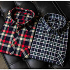 MENS Flannel Shirt CHECK BUSINESS CASUAL FORMAL 100% COTTON LONG SLEEVE WORK