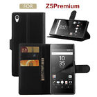 Luxury Leather Flip Card Wallet Stand Back Case Cover For Sony Xperia Z5 Premium