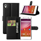 Luxury PU Leather Card Clip Wallet Stand Back Skin Case Cover For Sony Xperia Z1