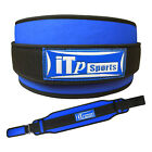 Weight Lifting Belt Body Building Back Support Gym Fitness Exercise Belt BLU-BLK