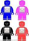 LEGO MAN LIGHT SWITCH KIDS VINYL WALL ART GRAPHICS STICKERS, ANY COLOUR !!!!