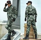 Outdoor camouflage suit Mens Multi Pocket training Military clothing coat pants