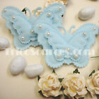 """Fabric Butterfly w/Pearl Baby Shower Favor Party Decor 2"""" x 18 PCS - FP3016"""