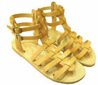 Ancient Greek Style Womens Roman Leather Handmade Sandals Shoes Gladiator Sparta