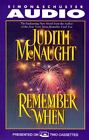 Remember When by Judith McNaught (1996, Cassette, Abridged)