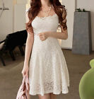HOT Women's Lace Short Sleeve Party Cocktail Evening Bodycon Summer Sexy Dresses
