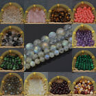 "Natural Gemstone 4mm 6mm 8mm 10mm Round Loose Beads Strand 15"" Pick Stone"