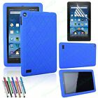 Amazon Fire 7 Case 2015/2017 Anti-slip ShockProof Gel Rubber Silicone Cover
