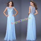 Women Formal Long Lace Prom Evening Bridesmaid Wedding Maxi Dress
