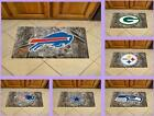 NFL Licensed Camo Scraper Mat Heavy Duty Area Rug Floor Carpet - Choose Team