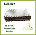 Bulk 88 x 50ml Amber Glass Aromatherapy Bottles - Choice Of Caps & Closures
