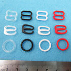 25pcs BRA STRAPS AJUSTMENTS BITS SLIDERS O RINGS HOOKS 7 SIZES 4 COLOURS
