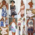 Uk Womens Celeb Sexy Playsuit Floral Lace Summer Beach Jumpsuit Mini Party Dress
