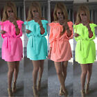 New Womens Off The Shoulder Bandage Club Party Summer Sexy Colorful Dress Gift