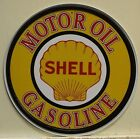 """SHELL GASOLINE logo 12"""" metal sign shell gas and oil Logo auto service  830"""