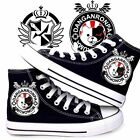 Danganronpa Dangan-Ronpa Black & White Bear Cosplay Canvas Unisex Sneakers Shoes