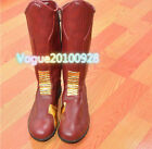 custom made red boots The Flash Hero Barry Allen Leather Cosplay Boots