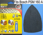 3 x Velcro Sanding Sheets For Bosch PSM 160A PSM 80A PRIO Palm Detail Sander 5