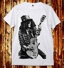 Slash Solo Best Lead Guitarist Hard Rock Guns N' Roses Live White Unisex T-Shirt