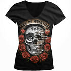 Dia De Muerto Day Of The Dead Halloween Mexico Holiday Juniors V-neck T-shirt