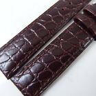 HQ 16MM 18MM~20MM UNIQUE REDDISH BROWN STRAP ITALY CROC GRAIN LEATHER WATCH BAND