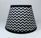 Black White Zig Zag Mia Chevron Stripe Cotton Fabric Lampshade Lamp Shade