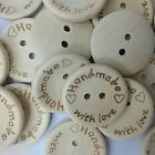 100pcs Lot Wood Butterfly Handmade 2 Holes Wooden Buttons Sewing Scrapbooking