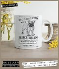 French Bulldog Dog Mug ~ Perfect Gift can be personalised ~ Vintage Style