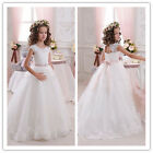 Wedding Prom Flower Girl Dresses for Birthday Communion BallGown Pageant PartyM