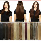 Flip Invisible 100% Human Hair Extensions FULL SET,Wire Headband 130g New