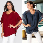 Fashion Womens Summer Vest Top Blouse Casual Tank Tops Lace T-Shirt Short Sleeve