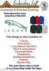 JAGUAR LOGO EMBROIDERED LONG SLEEVEPOLO SHIRT..7 COLOURS IN 8 SIZES