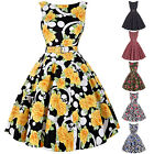 BP Vintage Style 50s Floral Pinup Swing Evening Cocktail Party Bridesmaid Dress