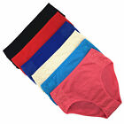 2 4 6 Pcs Lot Womens Comfort Cotton High Waist Full Briefs Underwear Basic Panty