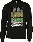 Happy Happy Happy When I'm Fishing Fisherman Bass Striper Long Sleeve Thermal