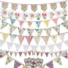 Vintage Shabby Chic Floral Bunting Banner Garland Wedding Birthday Garden Party
