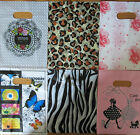 """100 FASHION PLASTIC CARRIER BAGS -- Printed Strong Gift or Shop Bags 8"""" x 6"""""""