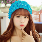 Vintage Adult Floral Flowered Handmade Women's Ladies Swimming Swim Bathing Hat