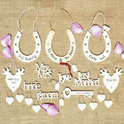 East Of India Wedding Heart Sign Horseshoe Mr & Mrs Bride Groom Just Married