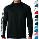 Adidas Golf 3 Stripes 1/4 Zip Pullover Mens 11 Colors