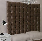 Monaco High Buttoned Bed Headboard Crush Velvet All Sizes & Colours