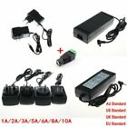 1A/2A/3A/5A/6A/8A/10A Power Supply Charger Transformer LED Strips Adapter 12V