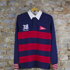 Crooks & Castles Rugby Polo Long Sleeve T-Shirt In Navy Sizes S