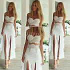 New SEXY Women Summer Sleeveless Lace Evening Party Long Maxi Dress Beach Dress