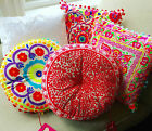 Embroidered Bright Cushions by Bombay Duck London 40cm x 40cm
