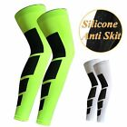 2Pc Sport Basketball Leg Knee Calf Protector Compression Stretch Sleeve Brace
