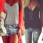 Women's Sexy Strappy V-neck T-Shirt Summer Vest Top Sleeveless Blouse Tank Tops